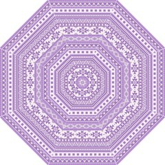 Fancy Tribal Borders Lilac Straight Umbrellas by ImpressiveMoments