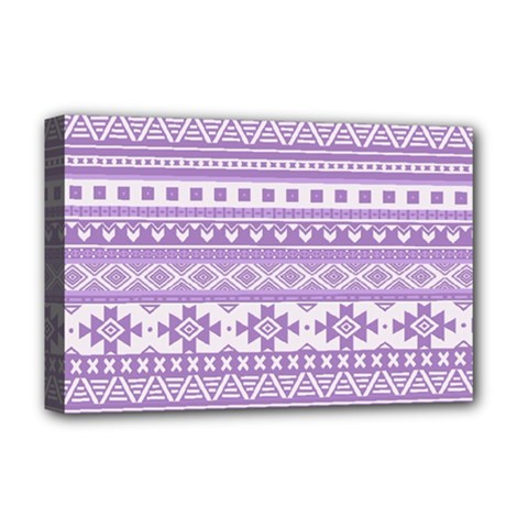 Fancy Tribal Borders Lilac Deluxe Canvas 18  X 12   by ImpressiveMoments