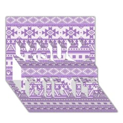 Fancy Tribal Borders Lilac You Did It 3d Greeting Card (7x5)