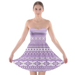 Fancy Tribal Borders Lilac Strapless Bra Top Dress by ImpressiveMoments