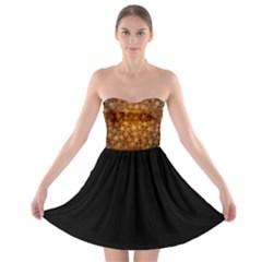 Gold Stars Strapless Bra Top Dress