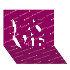 Merry Christmas,text,bordeaux Love 3d Greeting Card (7x5)
