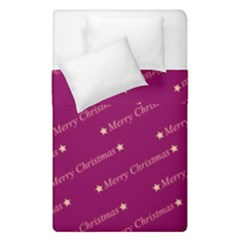 Merry Christmas,text,bordeaux Duvet Cover (single Size)