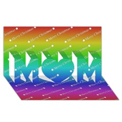 Merry Christmas,text,rainbow Mom 3d Greeting Card (8x4)  by ImpressiveMoments