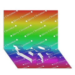 Merry Christmas,text,rainbow Love Bottom 3d Greeting Card (7x5)  by ImpressiveMoments