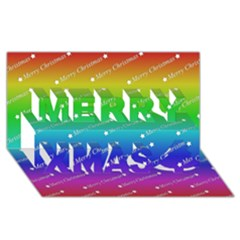 Merry Christmas,text,rainbow Merry Xmas 3d Greeting Card (8x4)  by ImpressiveMoments