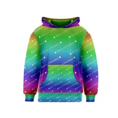 Merry Christmas,text,rainbow Kid s Pullover Hoodies by ImpressiveMoments