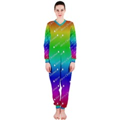 Merry Christmas,text,rainbow Onepiece Jumpsuit (ladies)  by ImpressiveMoments