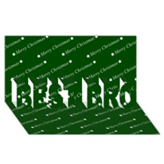Merry Christmas,text,green Best Bro 3d Greeting Card (8x4)  by ImpressiveMoments