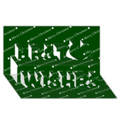 Merry Christmas,text,green Best Wish 3d Greeting Card (8x4)  by ImpressiveMoments
