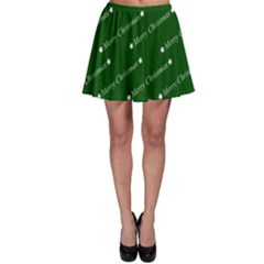 Merry Christmas,text,green Skater Skirts by ImpressiveMoments