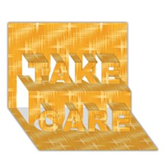 Many Stars, Golden TAKE CARE 3D Greeting Card (7x5)