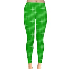 Many Stars, Neon Green Women s Leggings by ImpressiveMoments