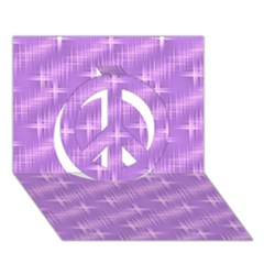 Many Stars, Lilac Peace Sign 3d Greeting Card (7x5)  by ImpressiveMoments