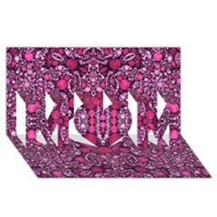 Crazy Beautiful Abstract  Mom 3d Greeting Card (8x4)