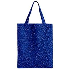 Sparkling Glitter Blue Zipper Classic Tote Bags by ImpressiveMoments