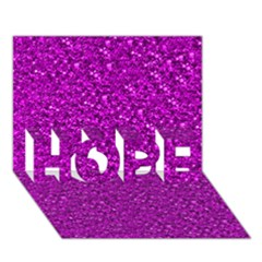 Sparkling Glitter Hot Pink Hope 3d Greeting Card (7x5)