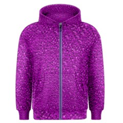 Sparkling Glitter Hot Pink Men s Zipper Hoodies