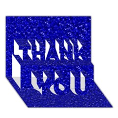 Sparkling Glitter Inky Blue Thank You 3d Greeting Card (7x5)
