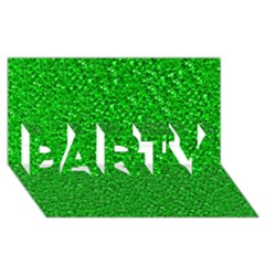 Sparkling Glitter Neon Green Party 3d Greeting Card (8x4)  by ImpressiveMoments