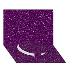 Sparkling Glitter Plum Circle Bottom 3d Greeting Card (7x5)