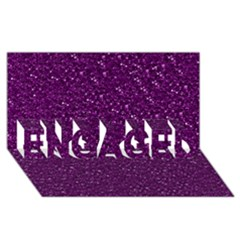 Sparkling Glitter Plum Engaged 3d Greeting Card (8x4)