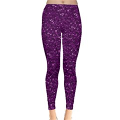 Sparkling Glitter Plum Women s Leggings by ImpressiveMoments