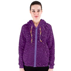 Sparkling Glitter Plum Women s Zipper Hoodies by ImpressiveMoments