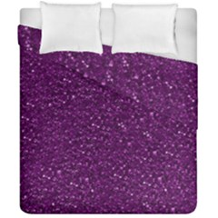 Sparkling Glitter Plum Duvet Cover (double Size) by ImpressiveMoments