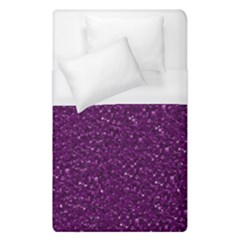 Sparkling Glitter Plum Duvet Cover Single Side (single Size) by ImpressiveMoments