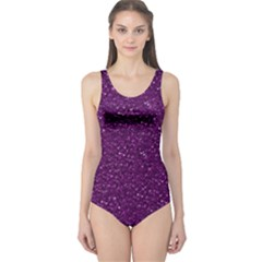 Sparkling Glitter Plum Women s One Piece Swimsuits