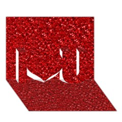 Sparkling Glitter Red I Love You 3d Greeting Card (7x5)