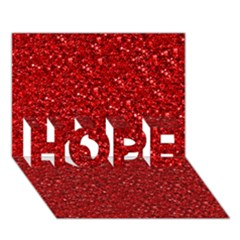 Sparkling Glitter Red Hope 3d Greeting Card (7x5)