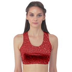 Sparkling Glitter Red Sports Bra