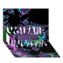 Fractal Dream You Are Invited 3d Greeting Card (7x5)