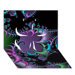 Fractal Dream Clover 3d Greeting Card (7x5)  by ImpressiveMoments