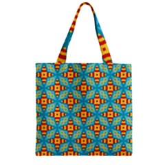 Cute Pretty Elegant Pattern Zipper Grocery Tote Bags by creativemom