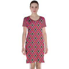 Cute Pretty Elegant Pattern Short Sleeve Nightdresses by creativemom