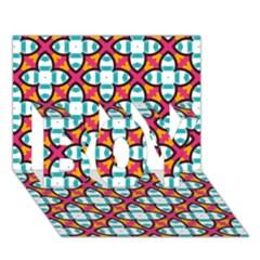 Pattern 1284 Boy 3d Greeting Card (7x5) by creativemom