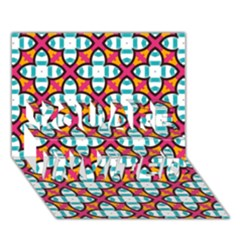 Pattern 1284 You Are Invited 3d Greeting Card (7x5)  by creativemom