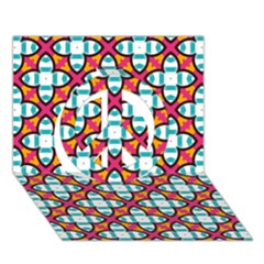 Pattern 1284 Peace Sign 3d Greeting Card (7x5)  by creativemom