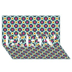 Pattern 1282 Party 3d Greeting Card (8x4)  by creativemom