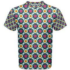 Cute Abstract Pattern Background Men s Cotton Tees by creativemom