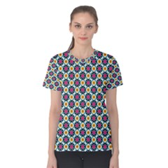 Cute Abstract Pattern Background Women s Cotton Tees by creativemom