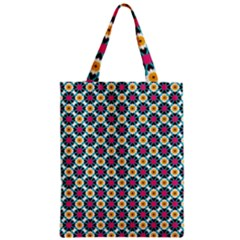 Cute Abstract Pattern Background Zipper Classic Tote Bags by creativemom