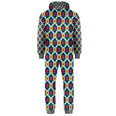 Cute Abstract Pattern Background Hooded Jumpsuit (men)  by creativemom