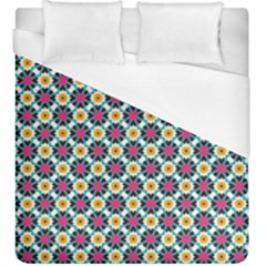 Cute Abstract Pattern Background Duvet Cover Single Side (kingsize) by creativemom