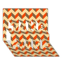 Modern Retro Chevron Patchwork Pattern  Take Care 3d Greeting Card (7x5)  by creativemom