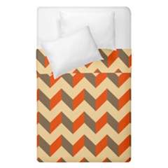 Modern Retro Chevron Patchwork Pattern  Duvet Cover (single Size) by creativemom