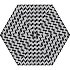 Modern Retro Chevron Patchwork Pattern  Mini Folding Umbrellas by creativemom